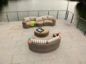 דגם ענבר – מערכות ישיבה – סלון מיוחד לגינה