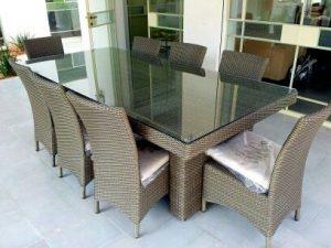 דגם שרון – שולחן לגינה מפוארת + 6 כסאות