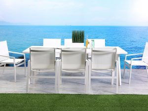 שולחן דגם פנטהאוז + 6 כסאות