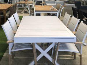 שולחן נפתח דגם זוהר + 6 כסאות מידות: 2.00/1.00 מ' נפתח ל 3.20 מ'