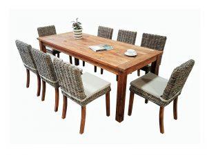 שולחן לגינה + 6 כסאות תואמים דגם סיישל