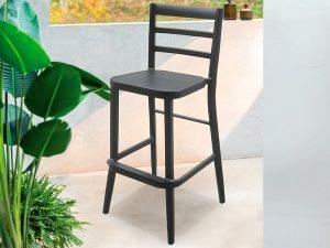 כיסא בר אלומיניום דמוי עץ דגם גל
