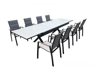 שולחן נפתח דגם ליב עם 6 כסאות