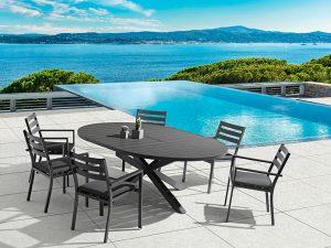 שולחן נפתח + 4 כסאות דגם מילן