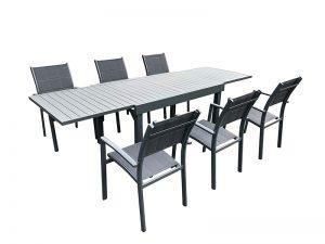 שולחן דגם טנריף 1.35 נפתח ל 2.70 + 4 כסאות